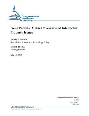 Primary view of object titled 'Gene Patents: A Brief Overview of Intellectual Property Issues'.