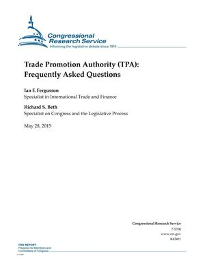 Primary view of object titled 'Trade Promotion Authority (TPA): Frequently Asked Questions'.