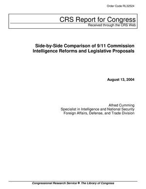 Primary view of object titled 'Side-by-Side Comparison of 9/11 Commission Intelligence Reforms and Legislative Proposals'.