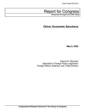 Primary view of object titled 'China: Economic Sanctions'.