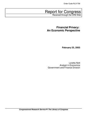 Primary view of object titled 'Financial Privacy: An Economic Perspective'.