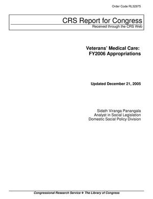 Primary view of object titled 'Veterans' Medical Care: FY2006 Appropriations'.