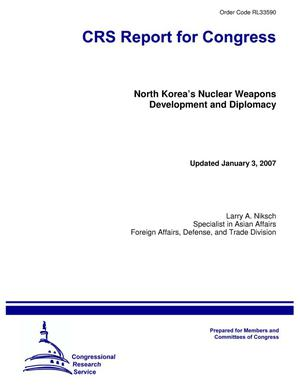 Primary view of object titled 'North Korea's Nuclear Weapons Development and Diplomacy'.
