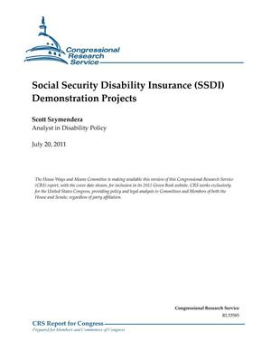 Primary view of object titled 'Social Security Disability Insurance (SSDI) Demonstration Projects'.