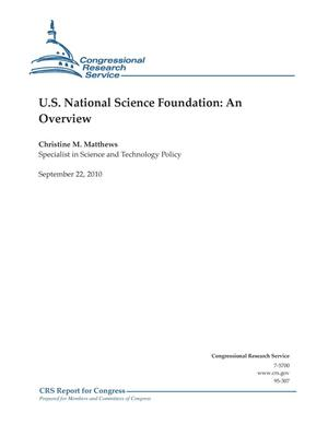 Primary view of object titled 'U.S. National Science Foundation: An Overview'.