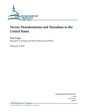 Primary view of object titled 'Severe Thunderstorms and Tornadoes in the United States'.