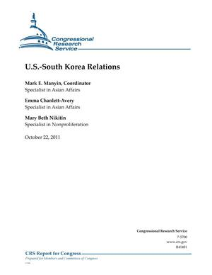 Primary view of object titled 'U.S.-South Korea Relations'.