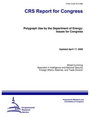 Primary view of object titled 'Polygraph Use by the Department of Energy: Issues for Congress'.