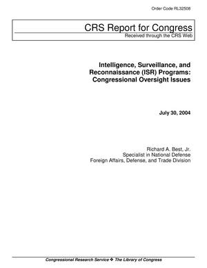 Primary view of object titled 'Intelligence, Surveillance, and Reconnaissance (ISR) Programs: Congressional Oversight Issues'.