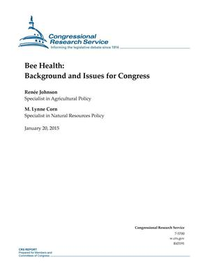Primary view of object titled 'Bee Health: Background and Issues for Congress'.