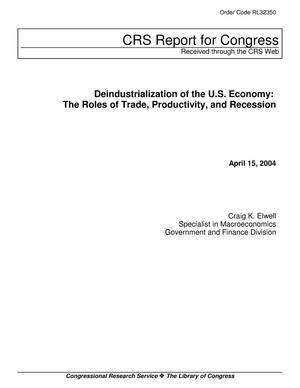 Primary view of object titled 'Deindustrialization of the U.S. Economy: The Roles of Trade, Productivity, and Recession'.