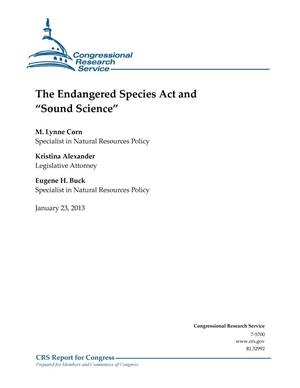 "Primary view of object titled 'The Endangered Species Act and ""Sound Science""'."