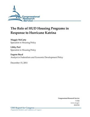 Primary view of object titled 'The Role of HUD Housing Programs in Response to Hurricane Katrina'.