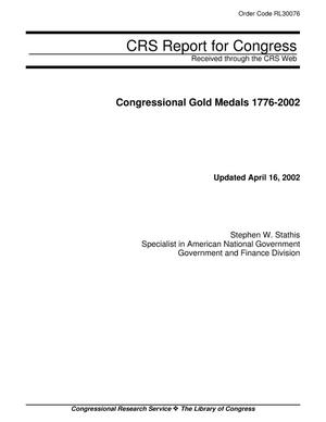 Primary view of object titled 'Congressional Gold Medals 1776-2002'.