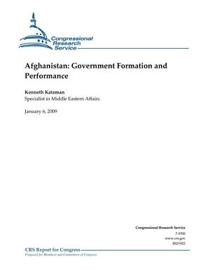 Primary view of object titled 'Afghanistan: Government Formation and Performance'.