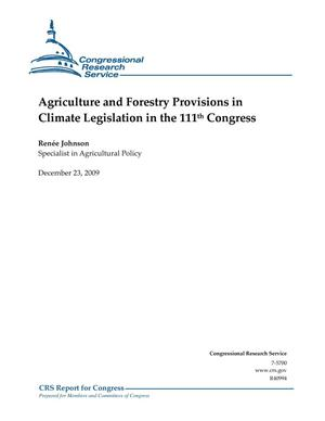 Primary view of object titled 'Agriculture and Forestry Provisions in Climate Legislation in the 111th Congress'.