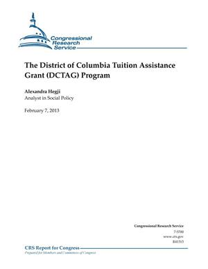 Primary view of object titled 'The District of Columbia Tuition Assistance Grant (DCTAG) Program'.