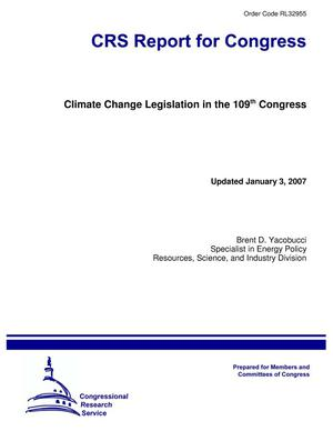 Primary view of object titled 'Climate Change Legislation in the 109th Congress'.