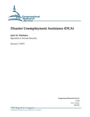 Primary view of object titled 'Disaster Unemployment Assistance (DUA)'.