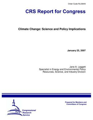 Primary view of object titled 'Climate Change: Science and Policy Implications'.