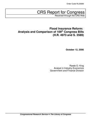Primary view of object titled 'Flood Insurance Reform: Analysis and Comparison of 109th Congress Bills (H.R. 4973 and S. 3589)'.