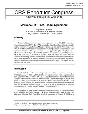 Primary view of object titled 'Morocco-U.S. Free Trade Agreement'.