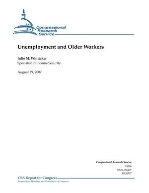 Primary view of object titled 'Unemployment and Older Workers'.