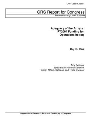 Primary view of object titled 'Adequacy of the Army's FY2004 Funding for Operations in Iraq'.