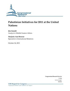 Primary view of object titled 'Palestinian Initiatives for 2011 at the United Nations'.