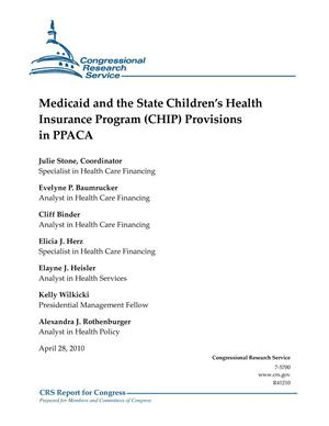 Primary view of object titled 'Medicaid and the State Children's Health Insurance Program (CHIP) Provisions in PPACA'.
