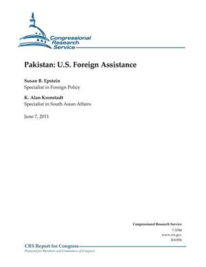Primary view of object titled 'Pakistan: U.S. Foreign Assistance'.