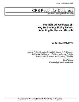 Primary view of object titled 'Internet: An Overview of Key Technology Policy Issues Affecting Its Use and Growth'.