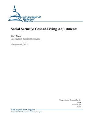 Primary view of object titled 'Social Security: Cost-of-Living Adjustments'.