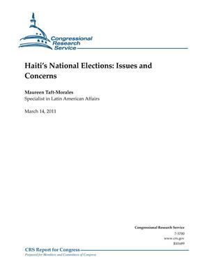 Primary view of object titled 'Haiti's National Elections: Issues and Concerns'.