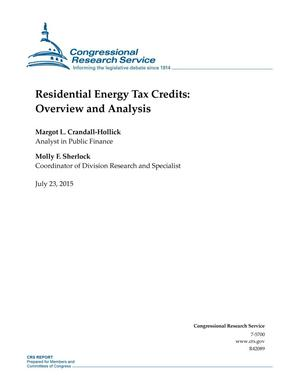 Primary view of object titled 'Residential Energy Tax Credits: Overview and Analysis'.