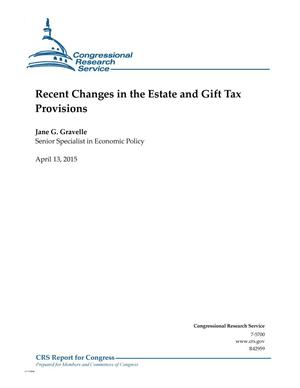 Primary view of object titled 'Recent Changes in the Estate and Gift Tax Provisions'.