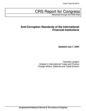 Primary view of object titled 'Anti-Corruption Standards of the International Financial Institutions'.