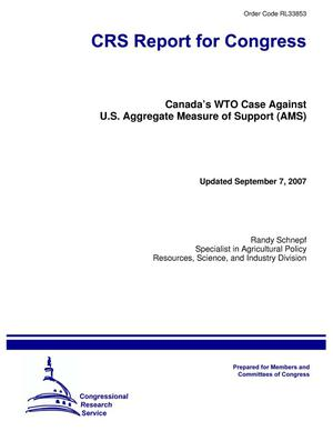 Primary view of object titled 'Canada's WTO Case Against U.S. Aggregate Measure of Support (AMS)'.