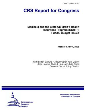 Primary view of object titled 'Medicaid and the State Children's Health Insurance Program (SCHIP): FY2009 Budget Issues'.