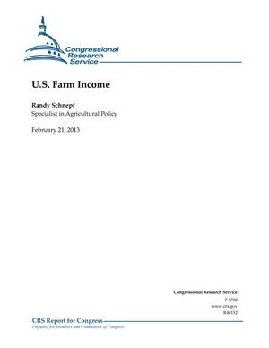 Primary view of object titled 'U.S. Farm Income'.