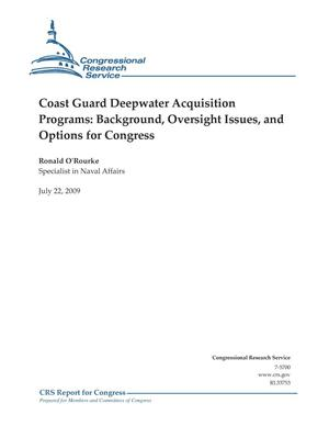 Primary view of object titled 'Coast Guard Deepwater Acquisition Programs: Background, Oversight Issues, and Options for Congress'.