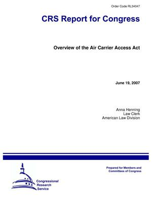 Primary view of object titled 'Overview of the Air Carrier Access Act'.
