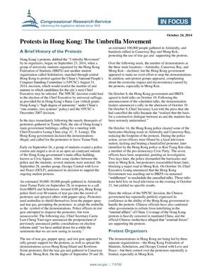Primary view of object titled 'Protests in Hong Kong: The Umbrella Movement'.