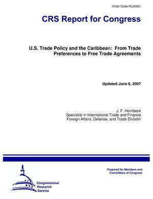 Primary view of object titled 'U.S. Trade Policy and the Caribbean: From Trade Preferences to Free Trade Agreements'.