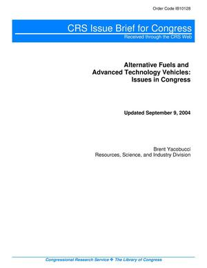 Primary view of object titled 'Alternative Fuels and Advanced Technology Vehicles: Issues in Congress'.