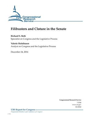 Primary view of object titled 'Filibusters and Cloture in the Senate'.