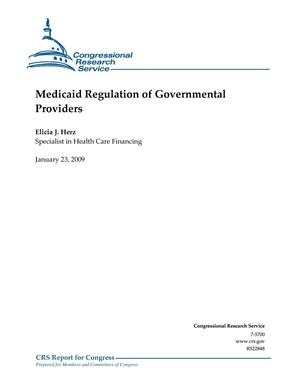 Primary view of object titled 'Medicaid Regulation of Governmental Providers'.