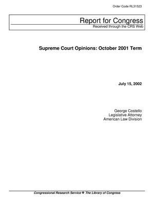 Primary view of object titled 'Supreme Court Opinions: October 2001 Term'.