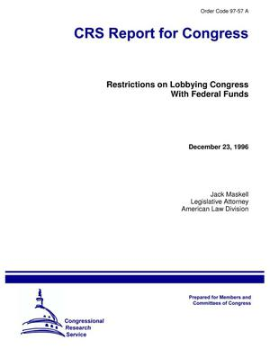 Primary view of object titled 'Restrictions on Lobbying Congres with Federal Funds'.
