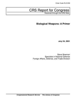 Primary view of object titled 'Biological Weapons: A Primer'.
